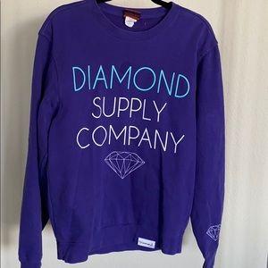 Diamond supply co purple sweatshirt